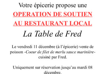 Soutenons la Table de Fred